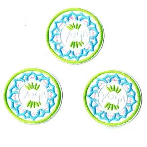 NEW YOGA PATCHES 3-PACK IRON ON BADGES APPLIQUES